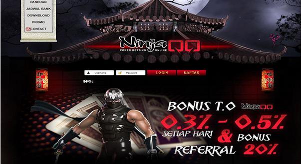 NINJAQQ Situs Agen Judi Online Terbaik dan Terpercaya Di Indonesia Memberikan Beberapa Bonus yang Sangat Menarik